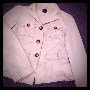 GAP jacket white Denim - size 4 - mint condition
